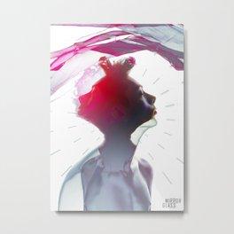 Mirror Glass Metal Print