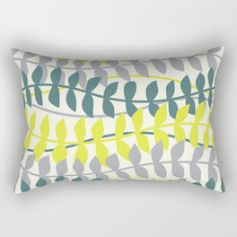 seagrass pattern - teal and lime Rectangular Pillow