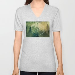 The Elements Geometric Nature Element of Earth Unisex V-Neck