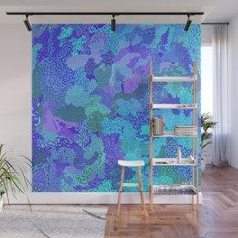 Blue Blossom Wall Mural