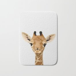 Giraffe Print, Safari Nursery Animal Wall Art Bath Mat