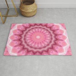 Mandala pink and white no. 2 Rug