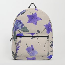 seamless   pattern of blue flowers . Endless texture Backpack
