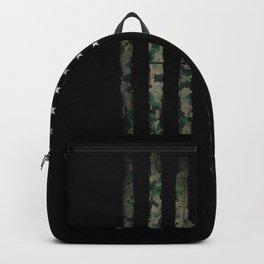 Khaki american flag Backpack