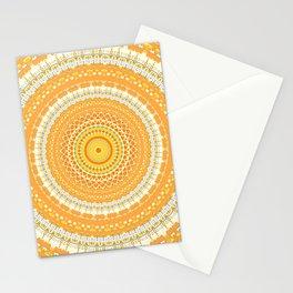 Marigold Orange Mandala Design Stationery Cards