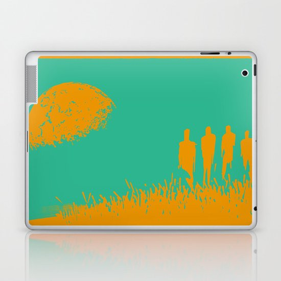 """New Moon"" by Justin Hopkins (Green Version) Laptop & iPad Skin"