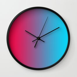 Pink and Sky-Blue Gradient 010 Wall Clock