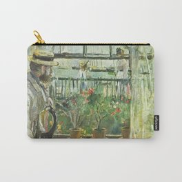 Berthe Morisot - Eugne Manet on Isle of Wight Carry-All Pouch