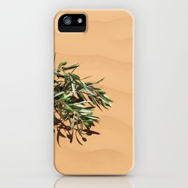 Olive branch in sand Dunes iPhone Case