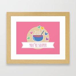 Souper Food Pun Framed Art Print