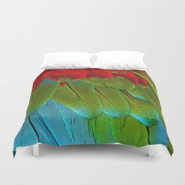 Catalina Macaw Feathers Duvet Cover
