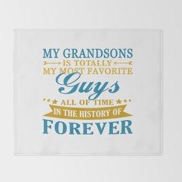 Grandsons Forever Throw Blanket