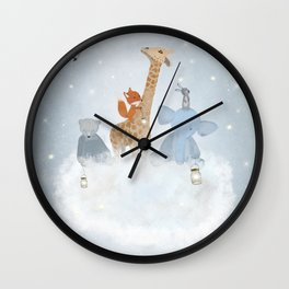 collecting stars Wall Clock
