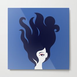 The Octopus Haircut Metal Print