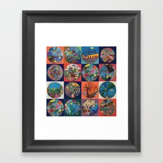 Bolitas de colores Framed Art Print