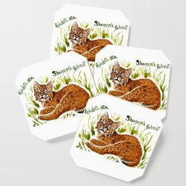 Shamrock Bobcat Smile Coaster