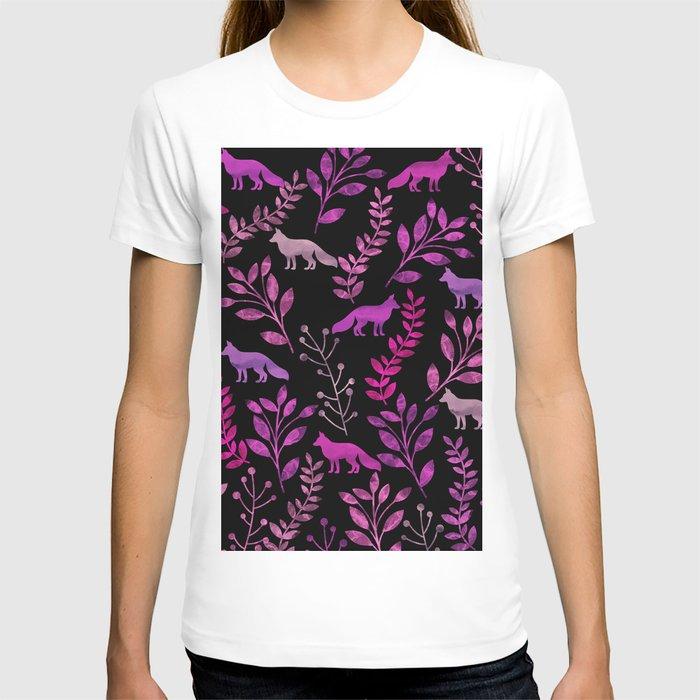 Watercolor Floral & Fox II T-shirt
