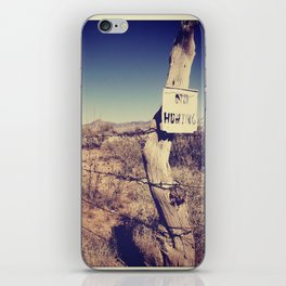 no hunting iPhone Skin