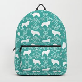Great Pyrenees floral silhouette dog breed gifts pure breeds Backpack
