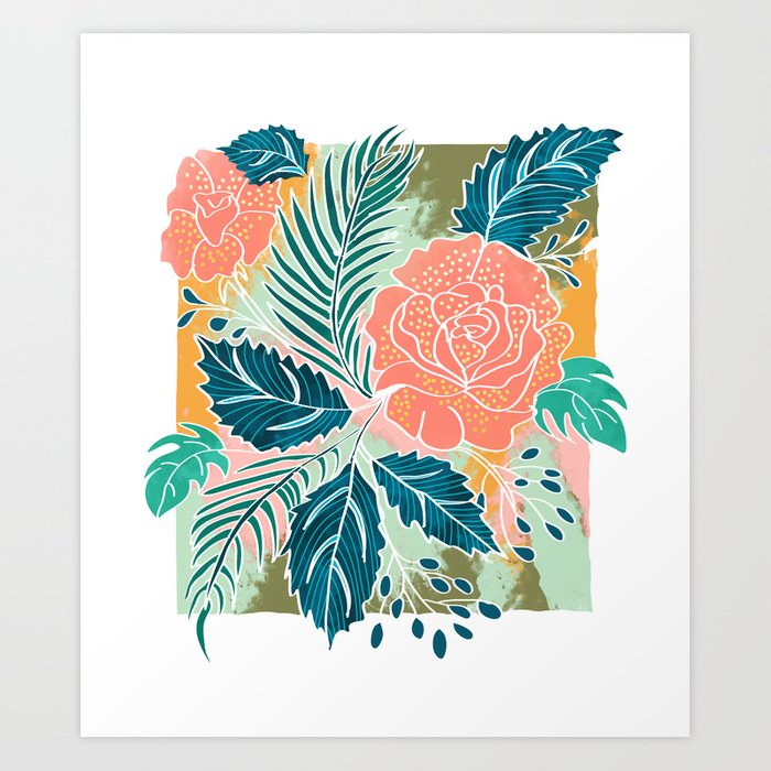 Framed Nature Art Print by 83oranges | Society6