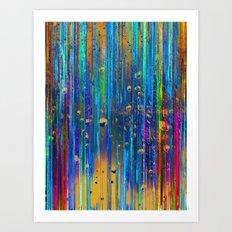 Colored Rain Art Print