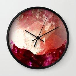 Rosey Quartz Wall Clock