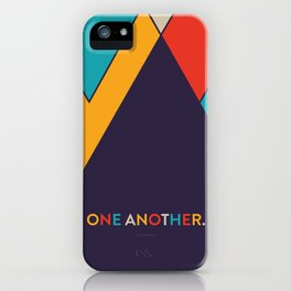 One Another Scripture Poster (Galatians 12) iPhone Case