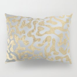 Modern elegant abstract faux gold silver pattern Pillow Sham
