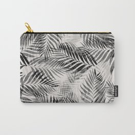 Palm Leaves - Black & White Carry-All Pouch