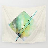 diamond Wall Tapestries featuring DIAMOND by Allyson Johnson