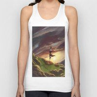 studio ghibli Tank Tops featuring Studio Ghibli - Howl's Moving Castle by BBANDITT