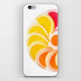 multicolored chewy gumdrops sweets iPhone Skin