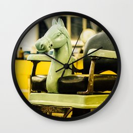 A little horse in the barbershop Wall Clock