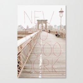 New York romantic typography vintage photography Canvas Print