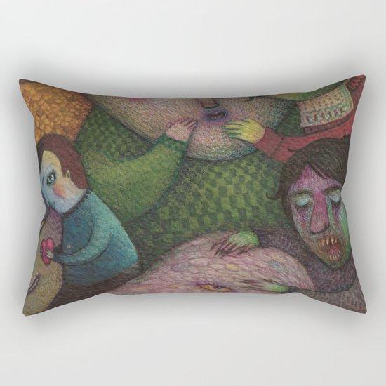 Seeking the truth Rectangular Pillow