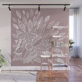 Scattered Petals on Vintage Backdrop Wall Mural