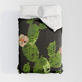 weird cactus black version Comforters