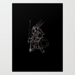 Rabby the Knight Art Print