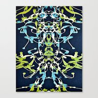 art nouveau Canvas Prints featuring Nouveau by Tina Carroll