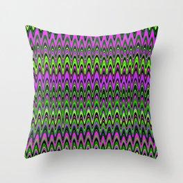Making Waves Neon Lights Throw Pillow