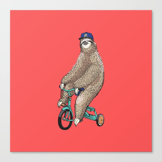 Haters Gonna Hate Sloth Canvas Print