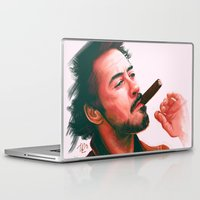 robert downey jr Laptop & iPad Skins featuring Mr Downey, Jr. by Thubakabra