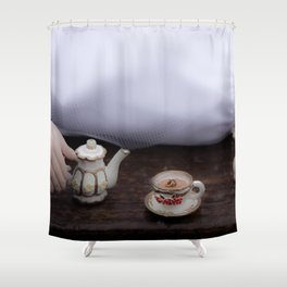 Alice's Escapades ~ Alice & The Tea Party Shower Curtain