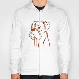 Boxer (Blue and Brown) Hoody