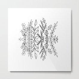 Symmetrical Botanicals Metal Print