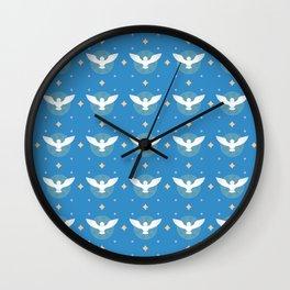 Dove Pattern Wall Clock