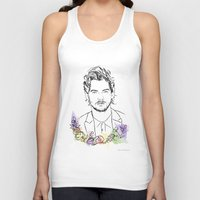 louis tomlinson Tank Tops featuring Louis Tomlinson by Mariam Tronchoni
