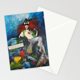 Mermaid with Beads Stationery Cards