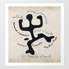 Traversella logo Art Print