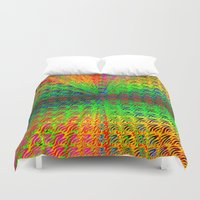psychedelic Duvet Covers featuring Psychedelic by Debbie Clayton